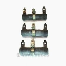 Vintage Lot of 3 IRC Type ABA Wire Wound Ceramic Resistors 15 ohm Resistance