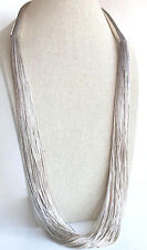 "Vintage Fine Jewelry  100 Strand Sterling Silver 30""  Necklace"