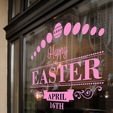 Easter Happy Day Greetings Vinyls Shop Window Display Wall Decals Stickers A399