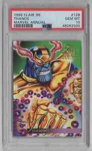 1995 Flair '95 Marvel Annual #128 Thanos - PSA 10 GEM MT  - NEWLY GRADED
