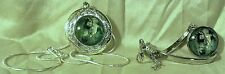 ARABIAN HORSE Glass Dome LOCKET & BRACELET Rhodium Plated Italy 925 Chain Blue