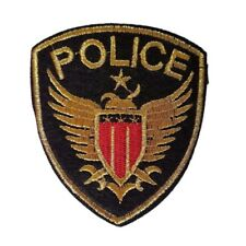 Police Shield Police Badge Iron On Patch Sew on Transfer - Brand New