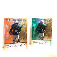 Terrance Williams Auto 2013 Leaf Valiant 2 Rookie Lot 14/50 On Card Autographs