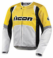 Icon Overlord Textile Jacket - Yellow - Size XL - **STORE CLOSED**