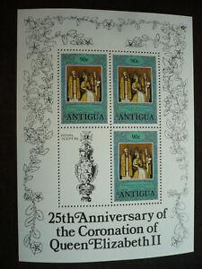 Stamps - Antigua - Scott# 511 - Souvenir Sheet