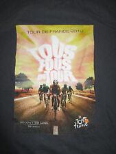 2012 Tour de France (XL) T-Shirt BRADLEY WIGGINS Tous Fous Du Tour