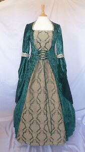 Medieval Dress Renaissance Dress Pagan Wedding Gown Gothic Custom Made to size