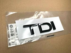 Genuine Style Gloss Black TDI Badge for Audi A3 A4 A5 A6 Q3 Q5 Q7 Quattro TT