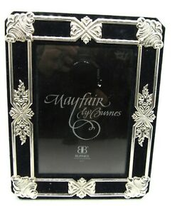 Mayfair by Burnes 5 x 7 Picture Frame Black and Silver Hang and Stand Felt Back