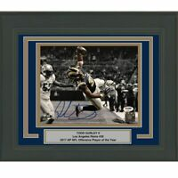 FRAMED Autographed/Signed TODD GURLEY II LA Rams 8x10 Photo PSA/DNA COA Auto #8