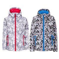 Trespass Qikpac Kids Waterproof Jacket Girls Boys Camouflage Packaway Rain Coat