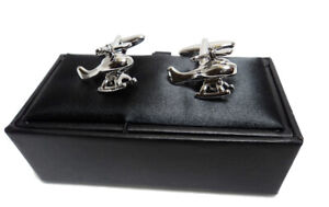 Mens Novelty Cufflinks Helicopter Shape Gift Christmas Fathers Day Husband Dad