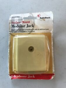 Radio Shack Surface Mount Modular Jack NIB Vintage 279-203  White