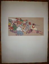 Jean Pougny Lithographie Signée Numérotée Art Abstrait Artiste Russe