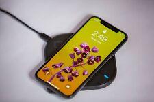 Wireless Universal Charging Pad Powerport Black Samsung iPhone Qi ftablets phone