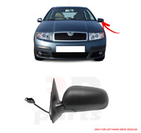 FOR SKODA FABIA 00-06 NEW WING MIRROR ELECTRIC HEATED BLACK LEFT N/S LHD