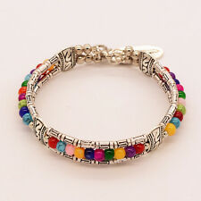 7 Chakra Healing Beaded Bracelet Natural Lava Rock Stone Charm Bracelet Jewelry