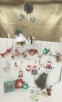 Christmas Tree Ornaments Assorted Vintage (Lot of 32 Plus) Very Unique and Rare