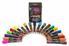 ONO Chalk Markers, 20 Neon Colors, Erasable, Black, White Boards And Glass, NEW!