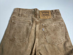 Vintage Levis 509 Jeans 29x32 NWOT Made in the USA Light Brown Tan