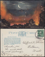 HAWAII USA 1917 hand-tinted colour litho Kilauea Vulcano by Morihori cds HILO RR