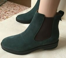 WALTER VIOLET  leather ankle boots  Woman color pine, size 40 chamois Tronchetto