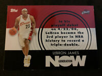 LEBRON JAMES 2007-08 Topps Generation Now SP Insert #GN1 Cavs Lakers