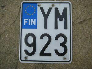 FINLAND HELSINKI EUROSTARS GRAPHIC MOTORCYCLE 2010s # YM 923 RARE LICENSE PLATE