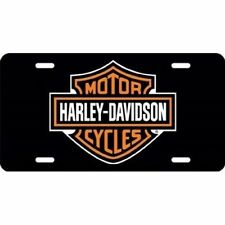 Offical Harley Davidson Black Laser License Plate Sign Tag