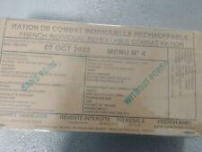#2022# Menu 4 , French MRE IRP Military Food RCIR 24H MENU Combat Box US France