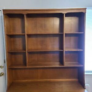 """ETHAN ALLEN Maple Custom Room Plan CRP Hutch Desktop Book Shelf Display 48""""x48"""""""