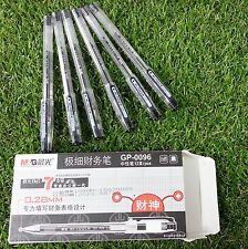 SHANGHAI M&G  GP-0096 0.28mm Gel pen 12pcs BLACK