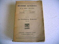 HISTOIRE la révolution française Lavisse Rambaud 1925