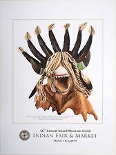 Indian Guild Fair Market 2014 Kachina Poster Heard Museum
