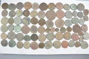 Lot 73 Byzantine bronze Follis & Anonymous  for cleaning 500-700 AD