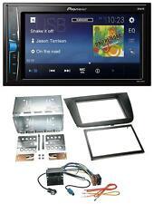 Pioneer 2din mp3 USB aux radio del coche para Seat Leon 05-09 negro