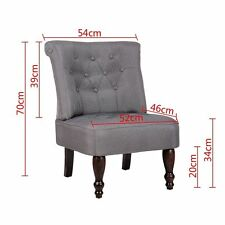 French Provincial Chair Grey Dining Retro Sofa Style Club Bedroom Wood Lounge
