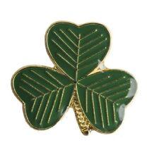 Shamrock Irish Badge Celtic 4 Four Leaf Clover FC Enamel Rovers Pin Ireland