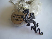 Juego de tronos Drogon Dragón madre Fire & Sangre Collar! Khaleesi Targaryen