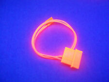 """NEW! LOT OF (5) UV RED 12"""" 3-PIN FEMALE TO MALE MOLEX PC POWER CABLE"""