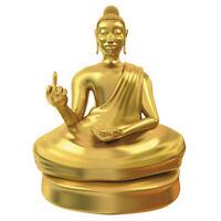 Buddha Statue mit Mittelfinger, Am Arsch vorbei, Buddhastatue, Deko Buddha Figur