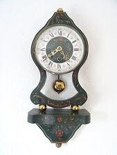 Dutch Vintage NUFA Antique Hindeloopen Folklore Wall Clock (Junghans era)
