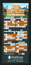 Detroit Tigers--2019 Magnet Schedule--First State Bank