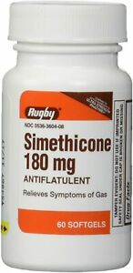 Simethicone 180 mg Softgels Anti-Gas Generic for Phazyme Ultra Strength 60 ct