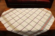 Vintage Retro Tablecloth with Woven Design - 44 in x 47 in - Picnic / Van - GVC