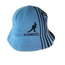 Kangol Bucket Knit Cap Blue Twill Cotton Flex Fit One Size Fits Most