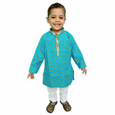 Kids kurta Pajama Indian hand Block Print Boys Suit Ethnic dress Baby apparel