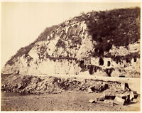 Campania Località sconosciuta Foto originale albumina Giorgio Sommer 1870c XL400