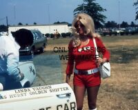 1972 MISS HURST LINDA VAUGHN INDY 500 OLDS PACE CAR 8X10 PHOTO AUTO RACING PINUP