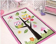 "2018 Home Textile,Unique Cartoon Owl Carpet,Delicate Butterfly Kids Rug 39''*56"""